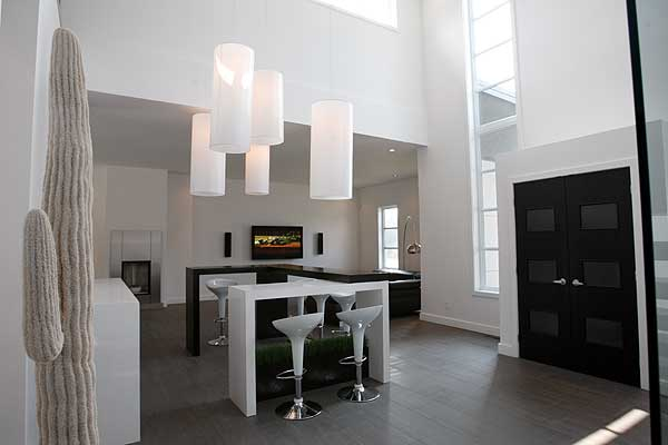 Contemporary Foyer Quotes : Modern house plan with nd floor terace dr