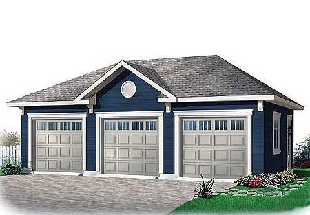 3 car garage with free bonus 21690dr architectural for Free garage plans online