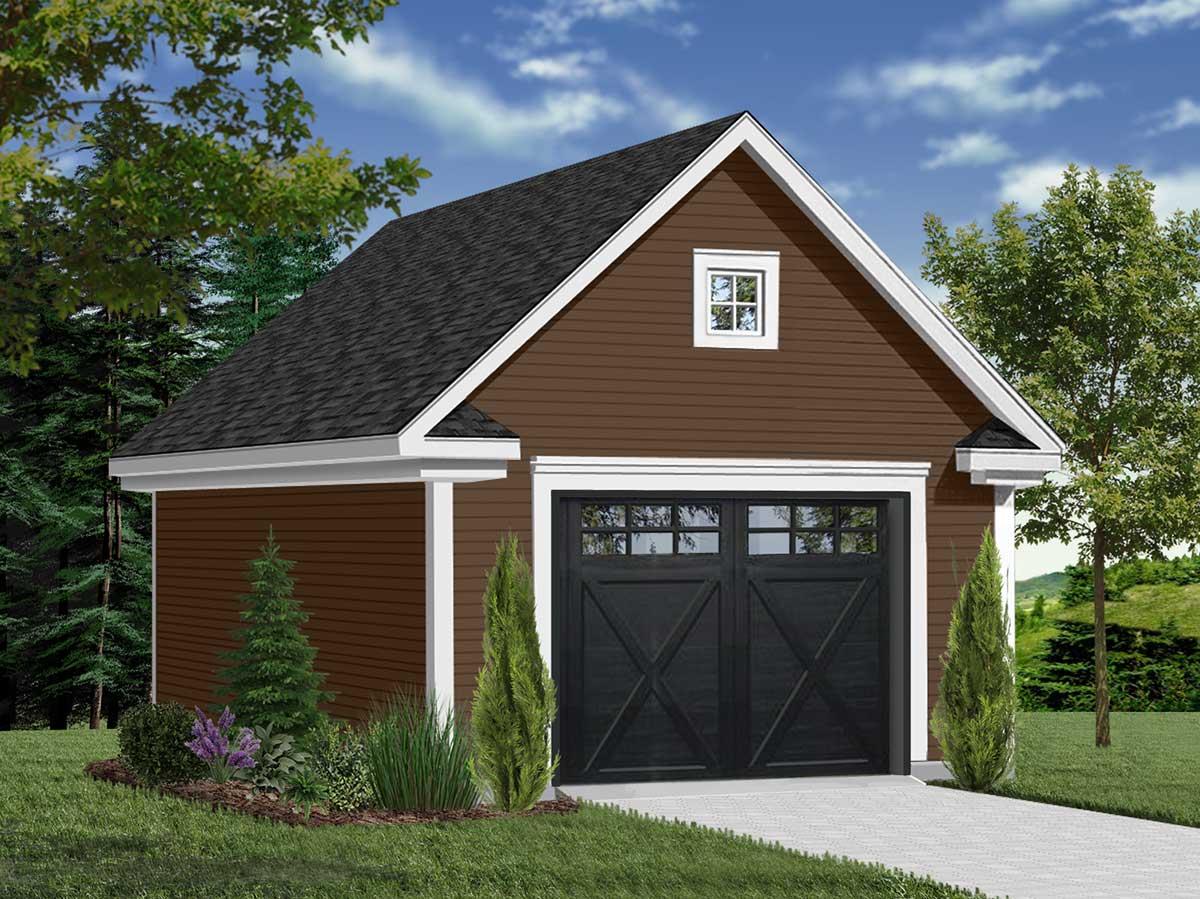 One Car Garage With Free Bonus 21701dr Architectural