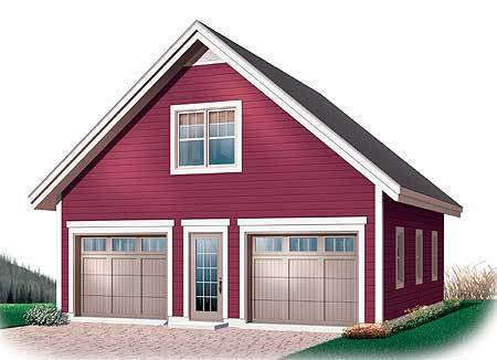 Garage Plan with Free Materials List 21703DR Architectural
