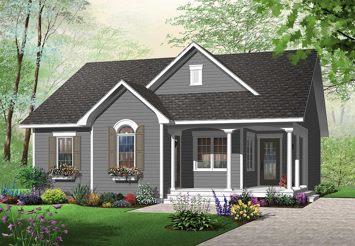 Delightful cottage home plan 21717dr 1st floor master for Canadian cottage house plans