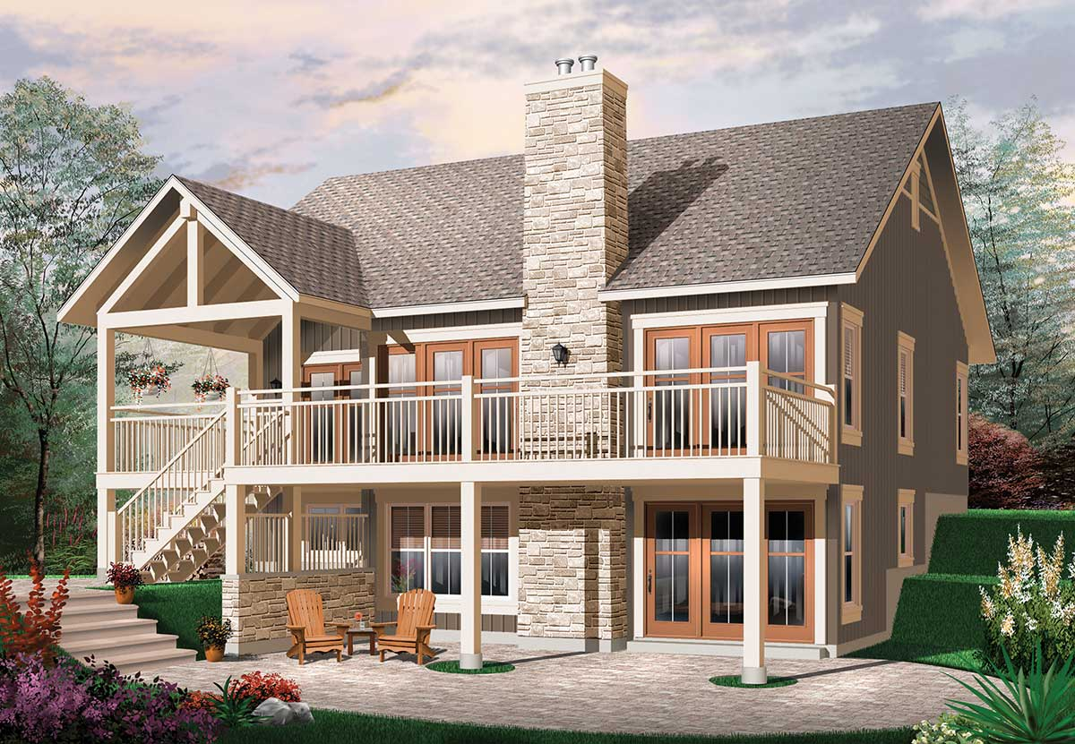 Panoramic views 21746dr architectural designs house for Panoramic view house plans