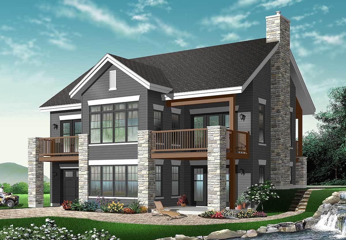 Spacious vacation retreat 21752dr architectural - Large summer houses energizing retreat ...