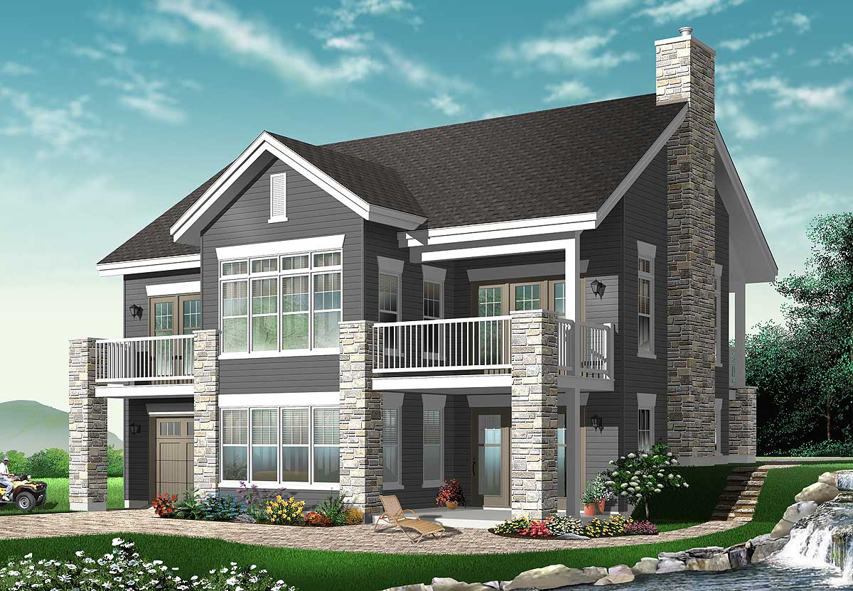 Spacious vacation retreat 21752dr 1st floor master for Best drive under house plans