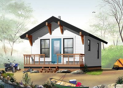 Rustic vacation retreat 21761dr architectural designs for Rustic vacation home plans