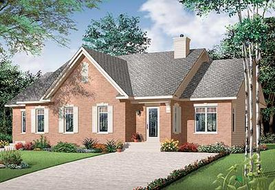 House Plan with In-Law Suite - 21766DR thumb - 01