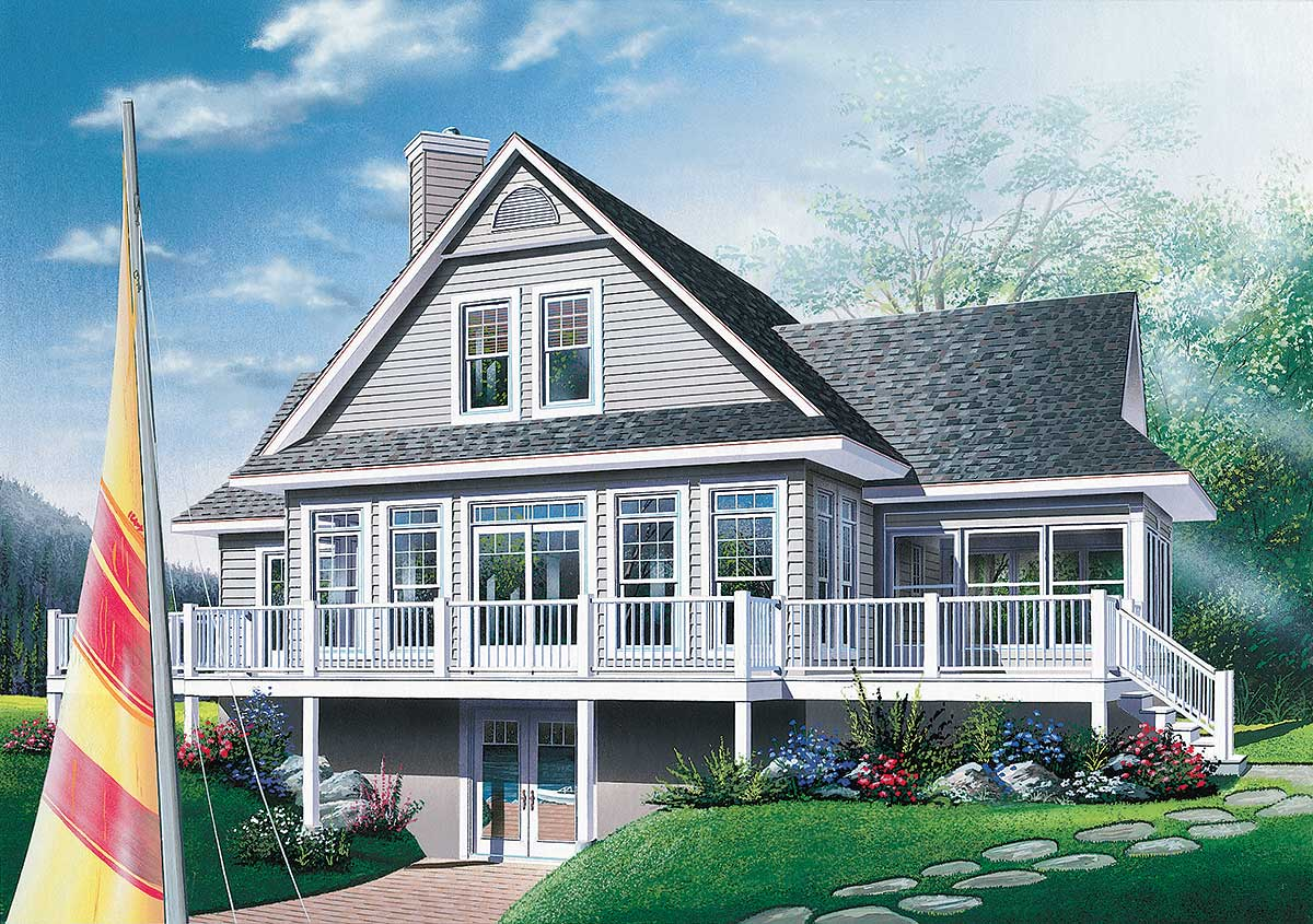 Four season vacation home plan 2177dr architectural for Architectural house plan