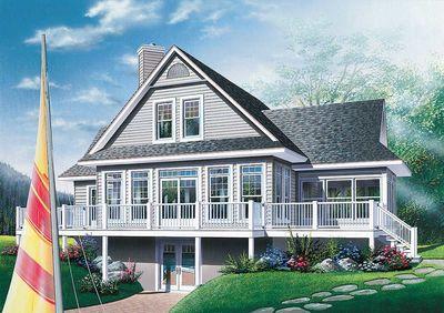 Four-Season Vacation Home Plan - 2177DR thumb - 01