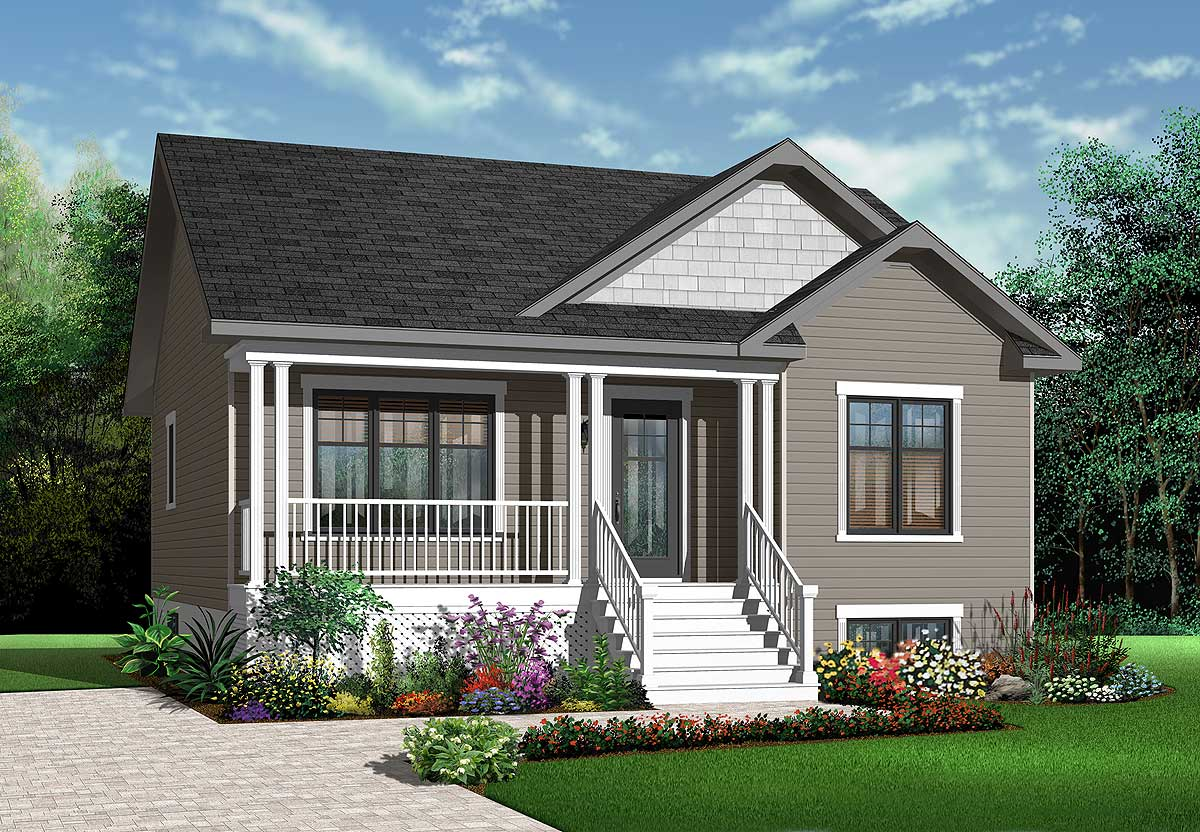 Popular compact country cottage 21780dr architectural for Compact cottages