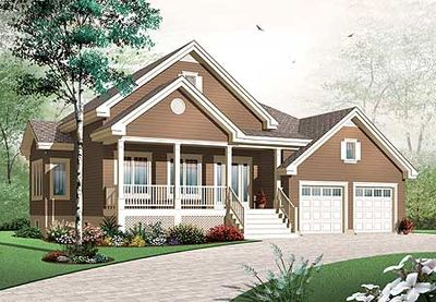 Comfortable porches front and back 21805dr for House plans with porches on front and back