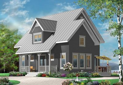 Country cottage with cathedral ceiling 21830dr for Cathedral ceiling house plans