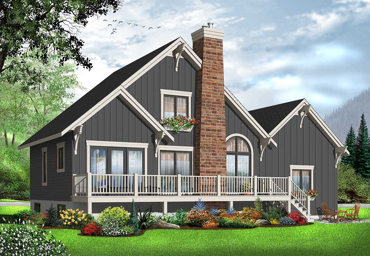 Year round vacation cottage 21866dr architectural for Vacation home plans