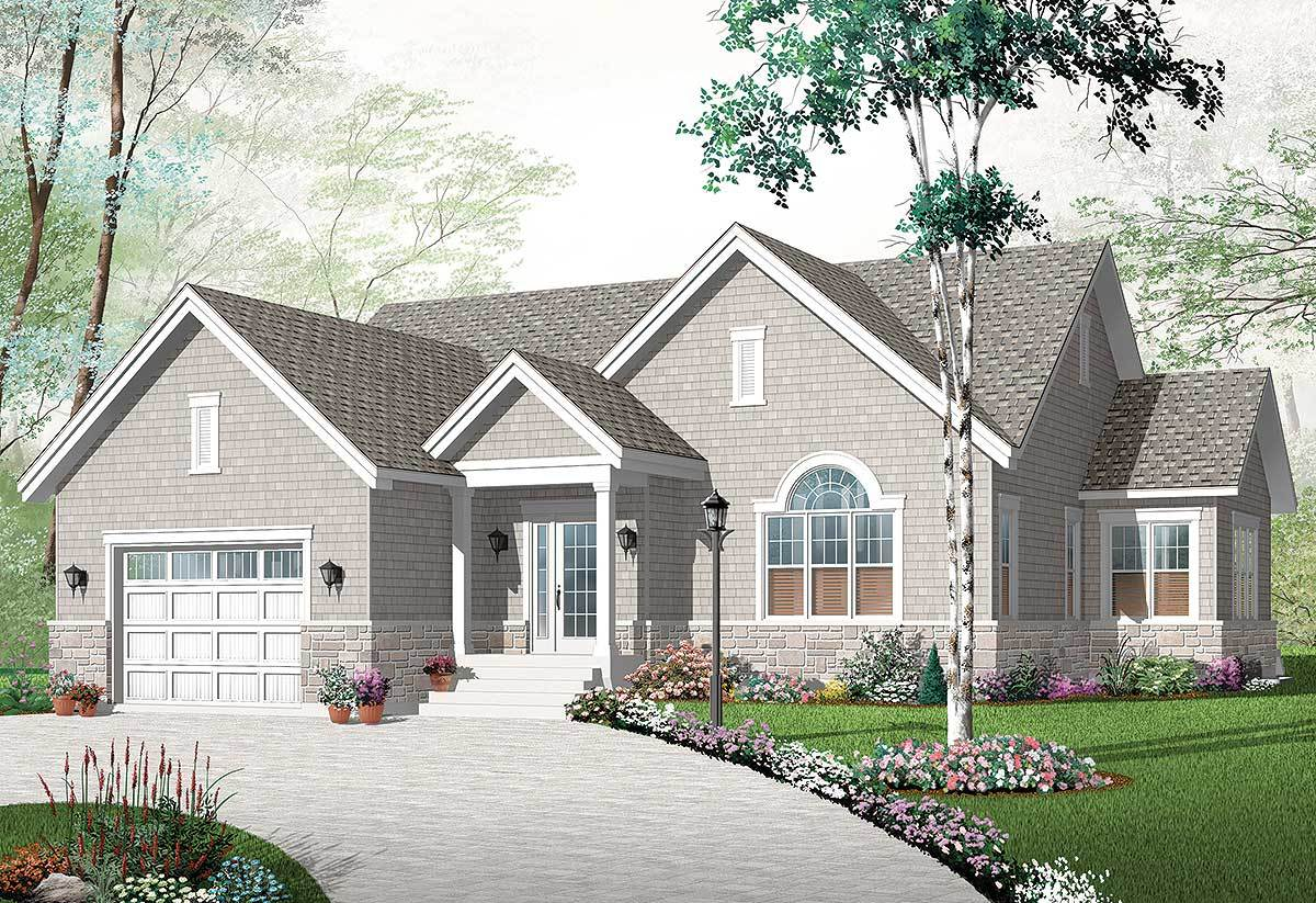 Affordable home plan in 3 sizes 21876dr architectural for Affordable house plans for large families