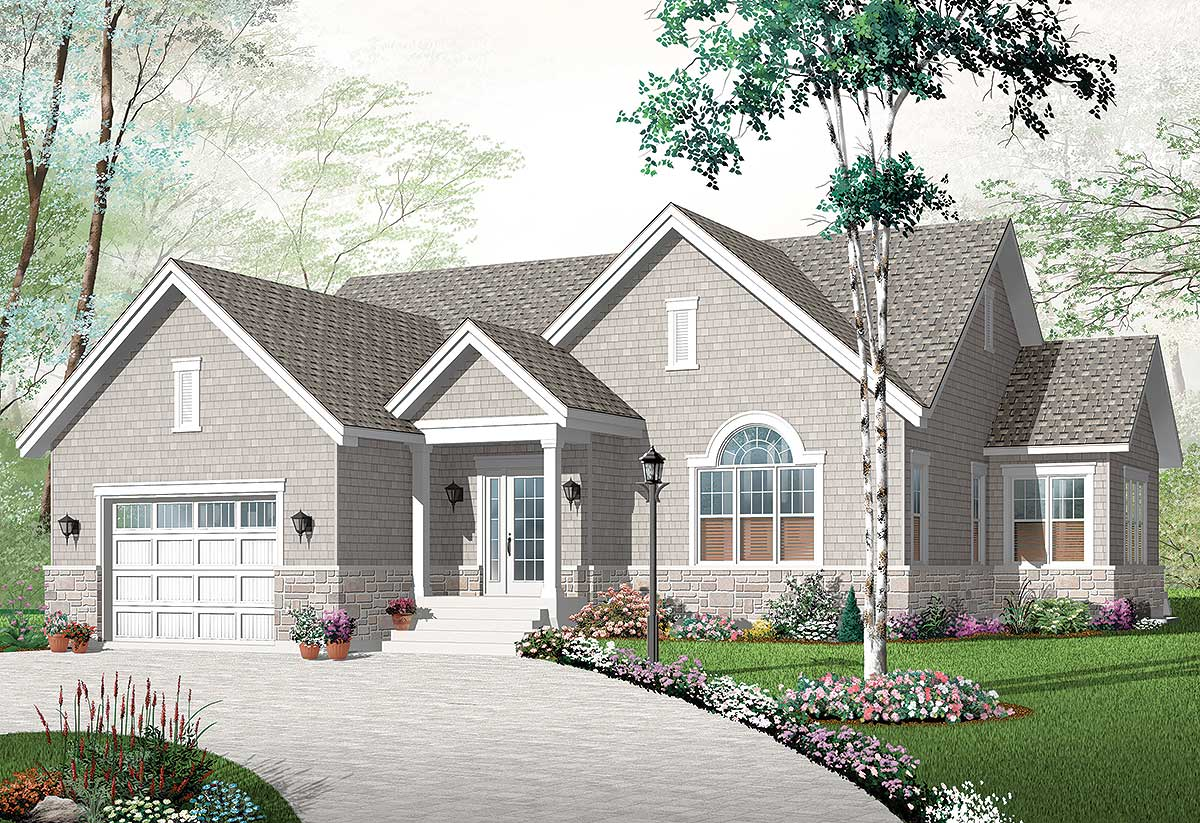 Affordable home plan in 3 sizes 21876dr architectural for Affordable home plans