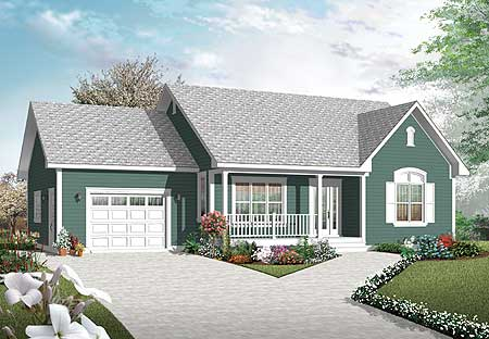 2 bedroom ranch with vaulted spaces 21877dr architectural designs house plans
