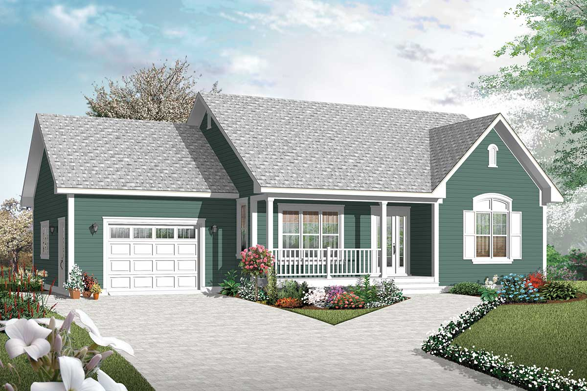 two bedroom ranch house plans 2 bedroom ranch with vaulted spaces 21877dr architectural designs house plans 4950