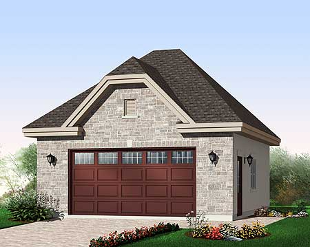 2 Car Garage With Free Bonus 21903dr Architectural