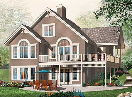 Multi generational house plan 21920dr 1st floor master for Multi generational home plans