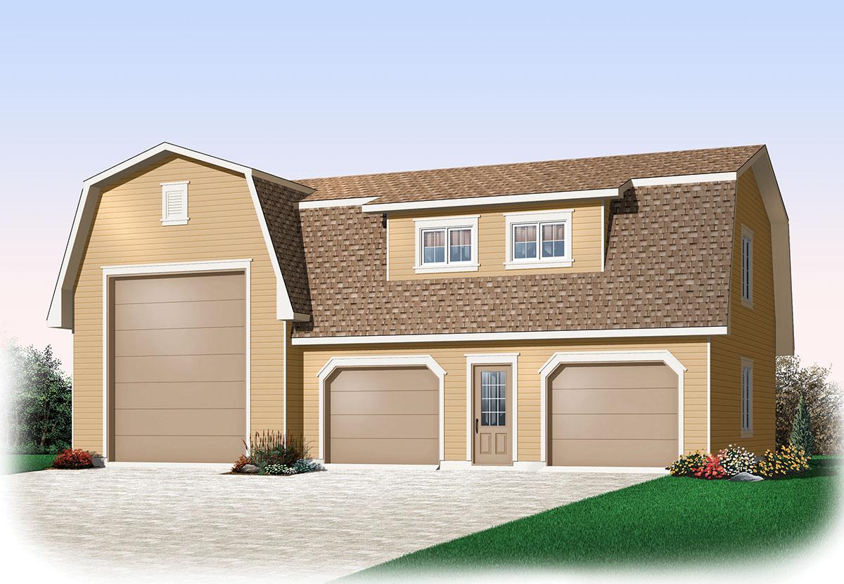 3 Car Rv Garage 21925dr Architectural Designs House