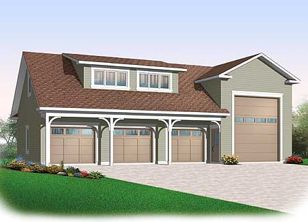 4 car rv garage 21926dr cad available canadian for Rv garage plans and designs