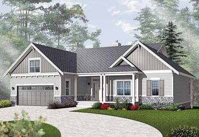 craftsman style ranch house