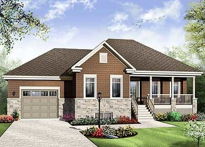 Split Level Home Plan with Lower Level - 21948DR thumb - 01