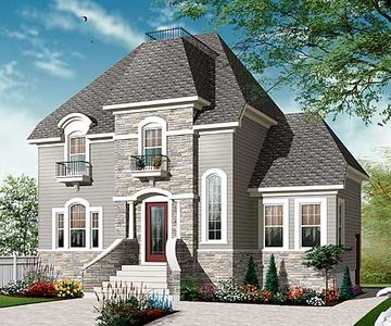 Stately narrow lot home plan 21952dr architectural for Stately house plans