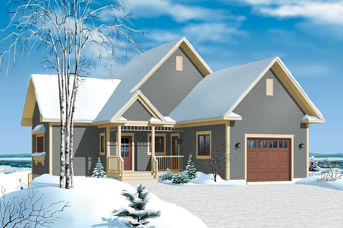 panoramic view chalet 21959dr architectural designs house plans. Black Bedroom Furniture Sets. Home Design Ideas