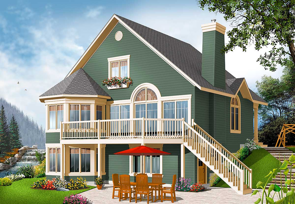 Round Homes Designs: Year-Round Cottage With Options - 21960DR