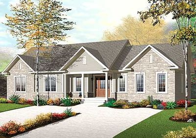 Bi generational beauty 21962dr 1st floor master suite for Bi generation house plans