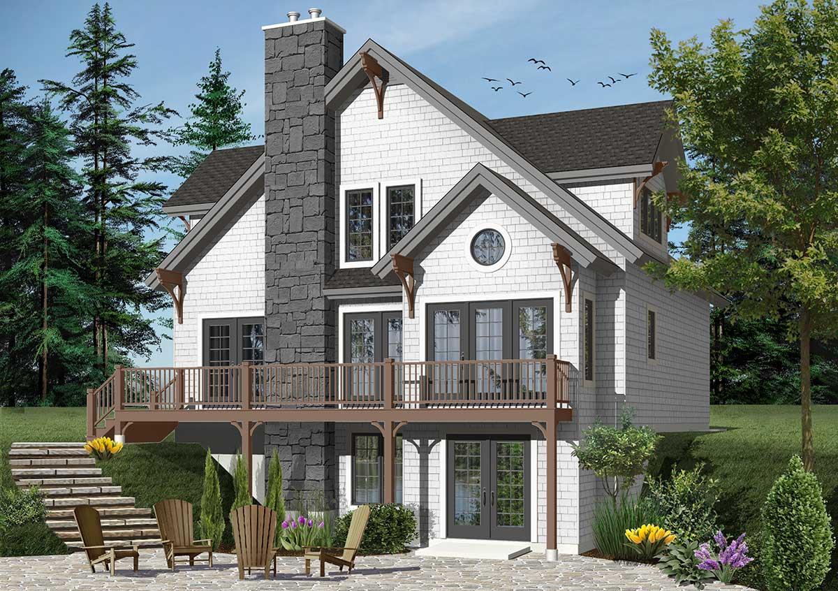 Expansion ready four seasons cottage 21979dr - Maison jardin house plan villeurbanne ...
