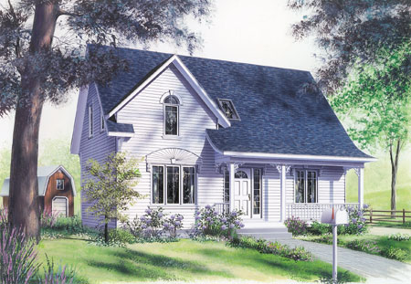 Classically designed country home plan 2198dr 2nd for Canadian country house plans