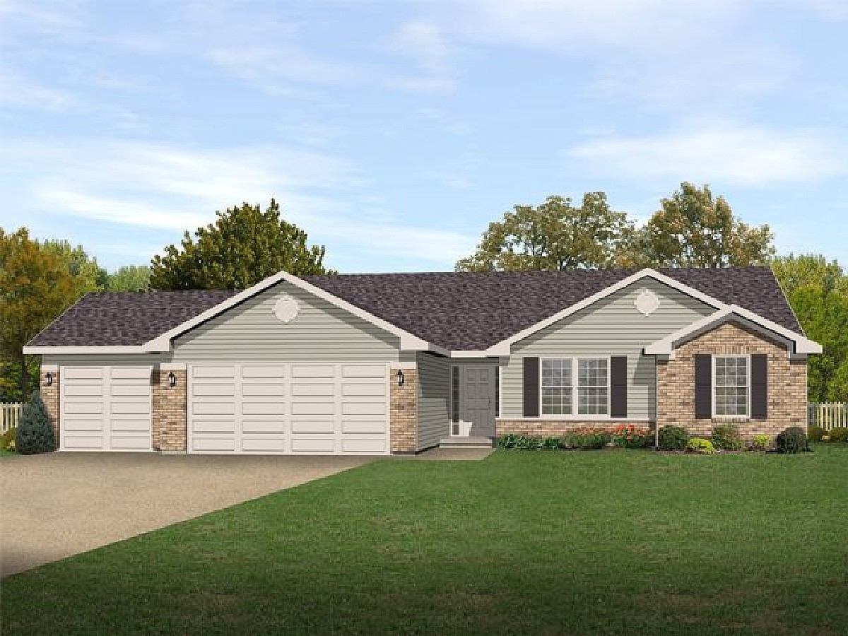 Traditional Ranch Home Plan 22008sl 1st Floor Master