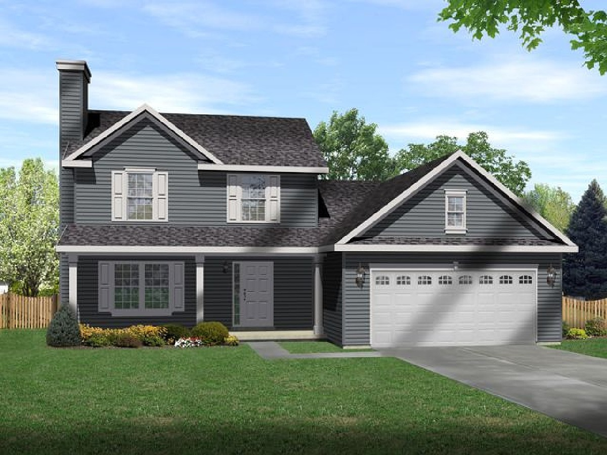 2 story country living 22015sl 1st floor master suite for Country garage plans
