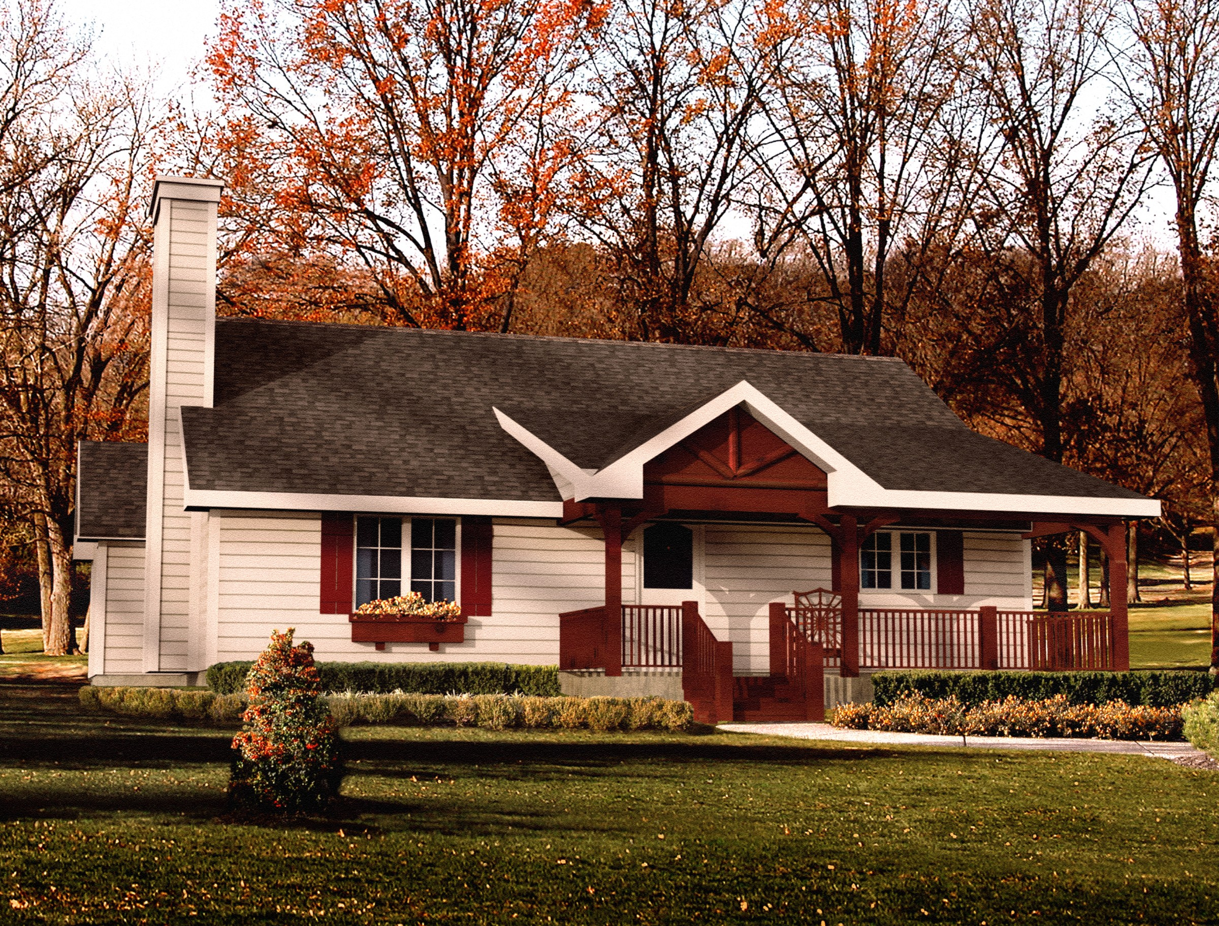 Elegantly simple house plan 22030sl country ranch for Simple rustic house plans