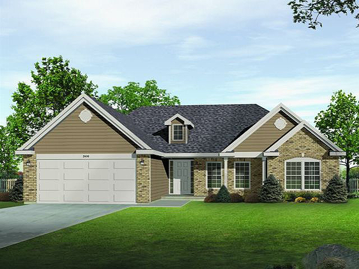 Affordable ranch home plan 22043sl architectural for Affordable one story house plans
