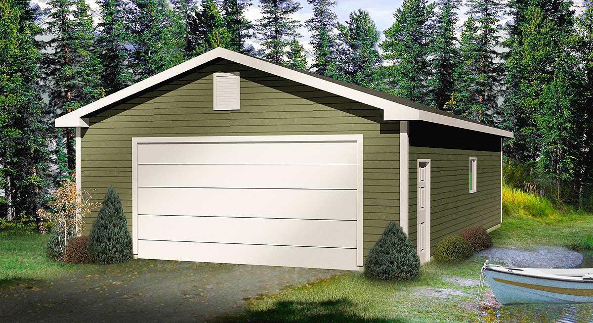 Deep detached garage plan 22048sl architectural for 2 car deep garage