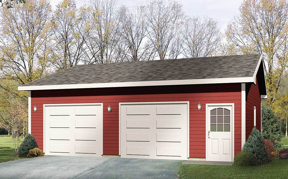 Detached drive thru garage plan 22049sl architectural for House plans with drive through garage