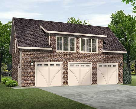 Two Bedroom Carriage House Plan 22105sl Carriage