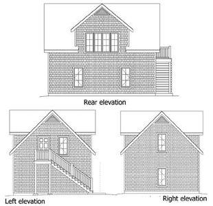 Shingle Style Garage With Storage Above 22078sl
