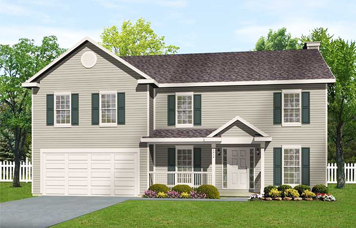 Economical 2 Story Home Plan 2208sl Architectural