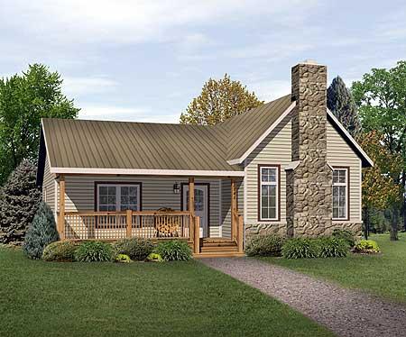 Vacation cottage or retirement plan 22080sl cottage for Retirement cottage plans