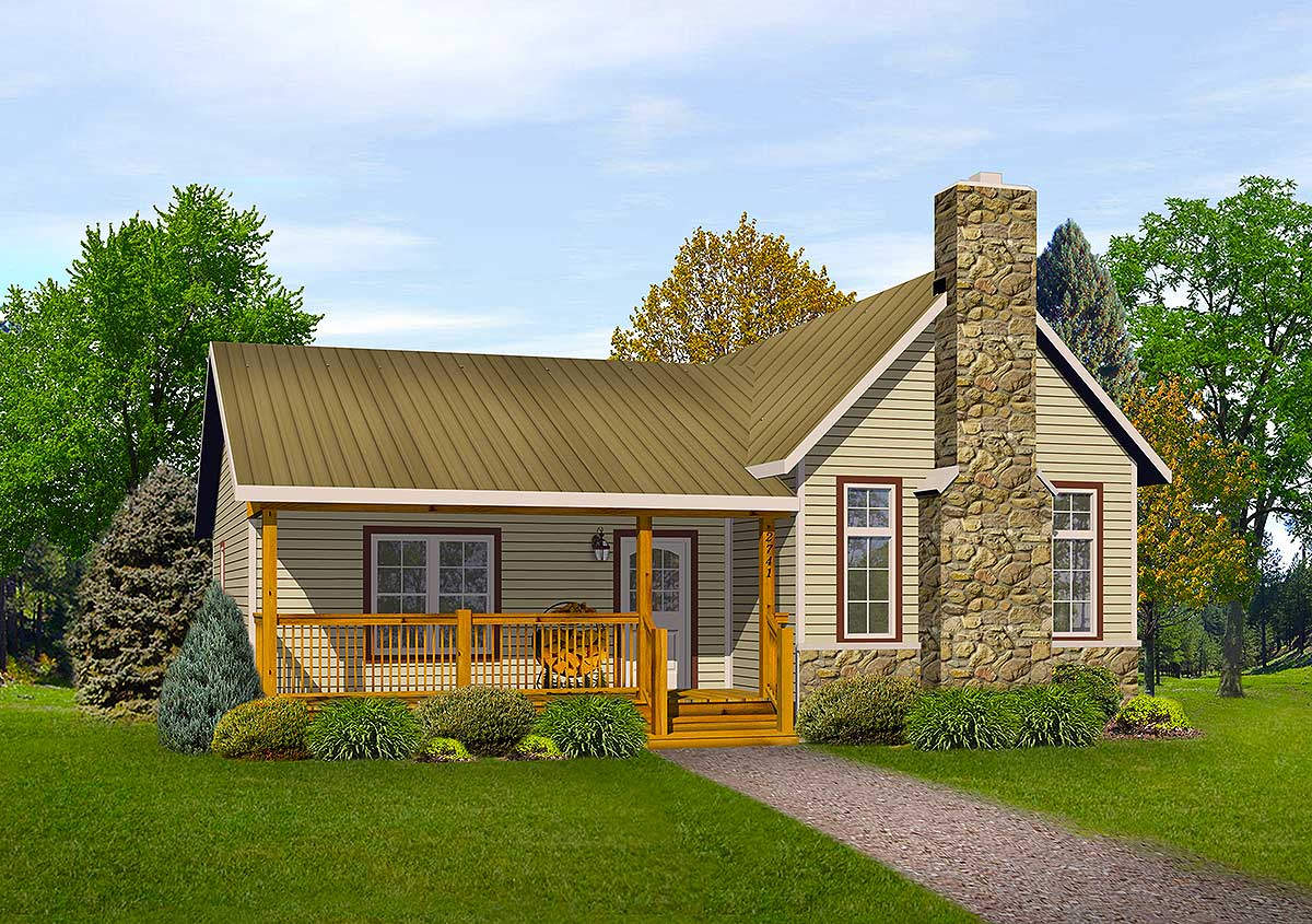 Vacation cottage or retirement plan 22080sl for Free vacation home plans