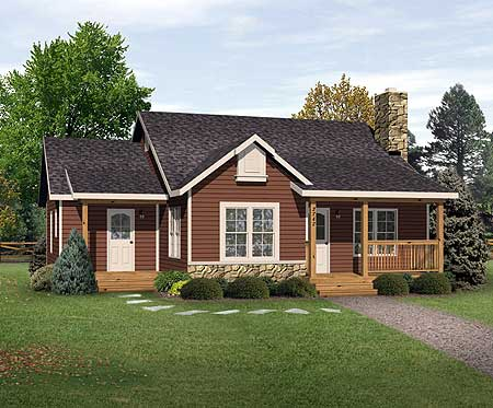 Simple Country Cottage 22081sl 1st Floor Master Suite