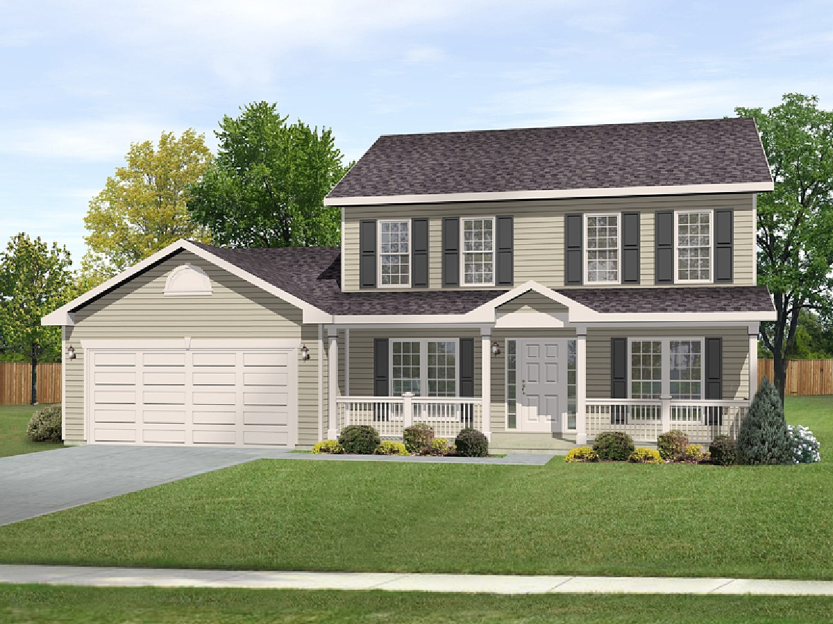 Traditional design with alternate 22083sl for Two story house blueprints