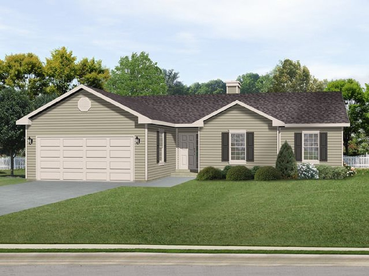 Affordable ranch with alternate exterior 22084sl 1st for Cheap ranch house plans
