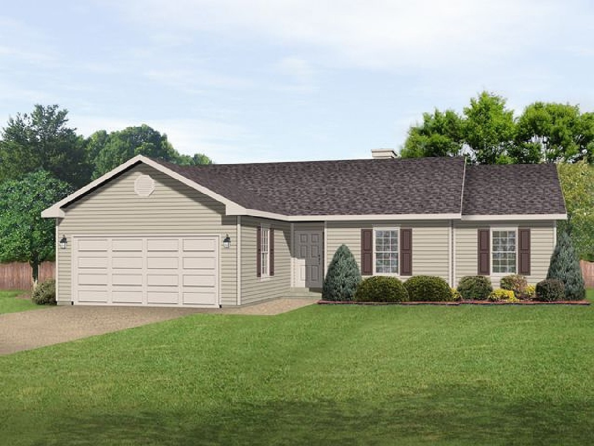 Affordable ranch with alternate exterior 22085sl for Affordable ranch home plans