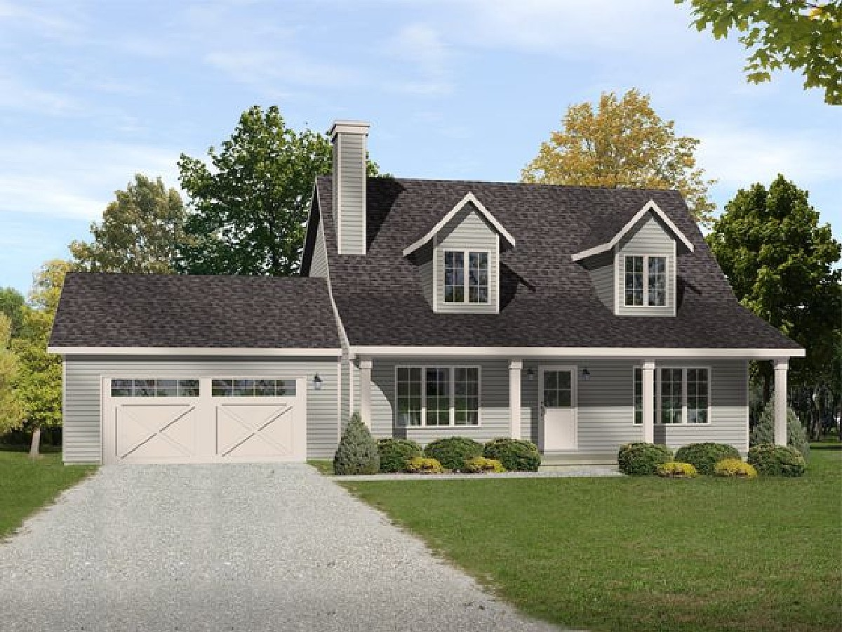 Simply country with options 22086sl architectural for Two story country house plans