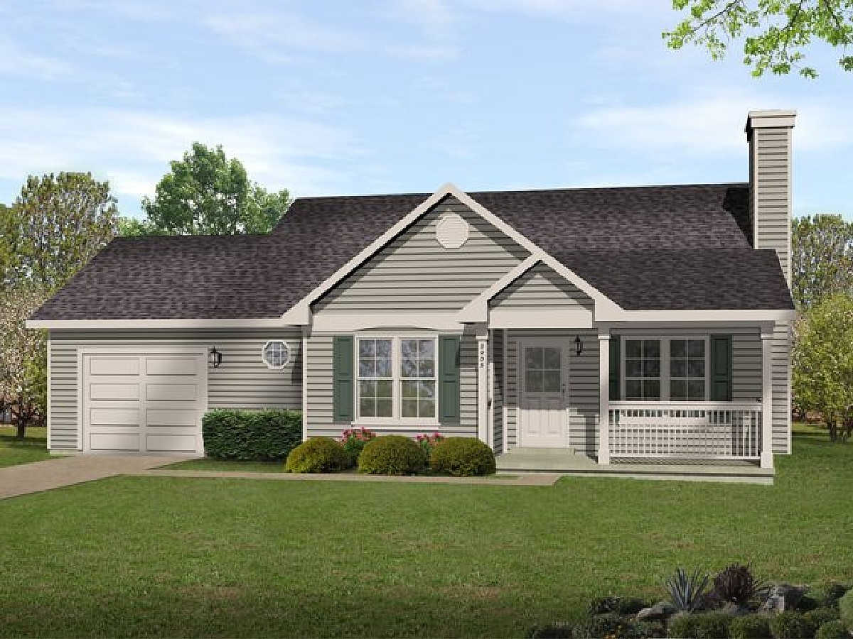 Ranch in multiple versions 22090sl architectural for Large ranch home plans