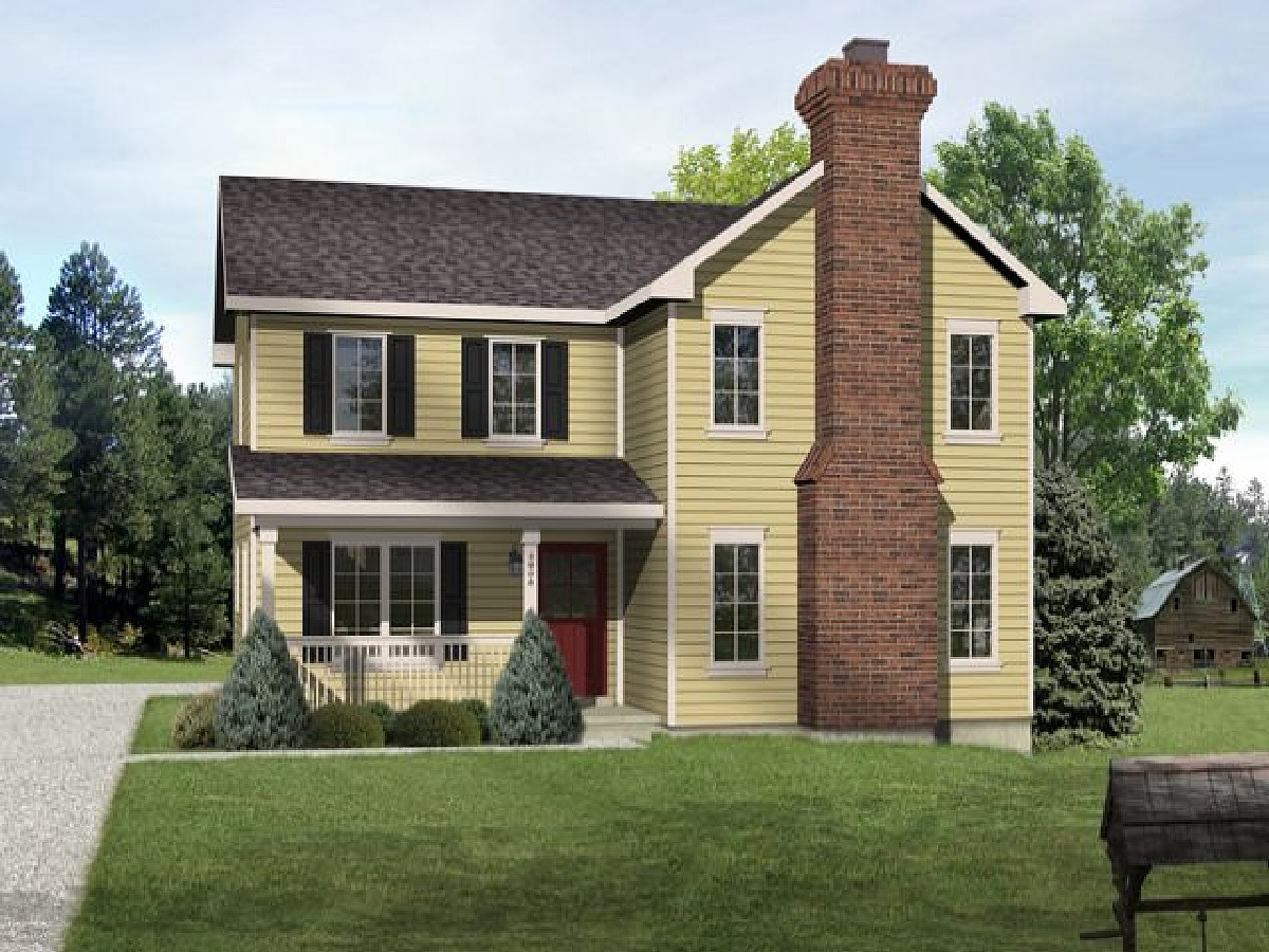 Great for a narrow lot 22091sl architectural designs for Great home plans